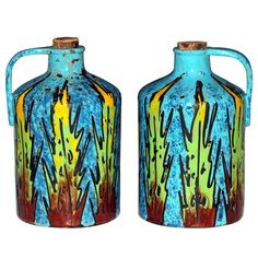 Pair Bitossi Moonshine Grappa Jugs   From a unique collection of antique and modern pottery at http://www.1stdibs.com/furniture/dining-entertaining/pottery/