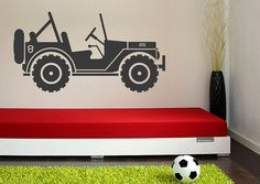 Wall Decals Nursery Childrens Jeep Safari by WallStarGraphics, $55.00
