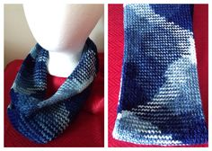 Short (Single Loop) Infinity Scarf  {Shades of Blue} Currently available on Etsy: https://www.etsy.com/listing/271586994/short-single-loop-infinity-scarf-shades
