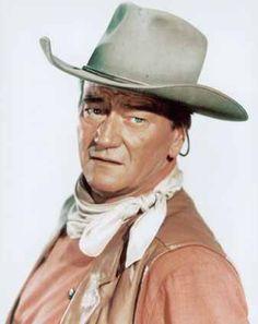 John Wayne  from the Western movie, EL DORADO ~ He wore this hat is SO many cowboy movies!!!