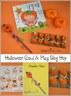 Pippa the Pumpkin Fairy Book, Pumpkin Crafts, DIY Wand, and Halloween Read & Play Blog Hop