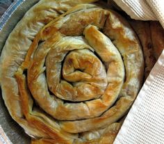 Tikvenik recipe -- Tikvenik is a traditional Bulgarian dessert. It is a kind of banitsa, or pie made with filo pastry, and it is filled with pumpkin. (Generally a banitsa can contain cheese, onions or nuts instead of pumpkin).  Usually I substitute the pumpkin for butternut squash, which is more traditional in Bulgaria.