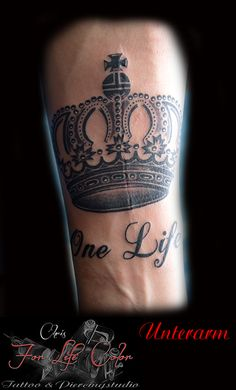 Tattoo Krone, One Life