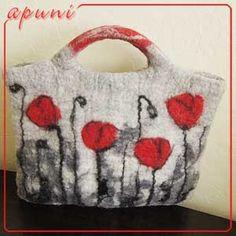 Apuni - moje hobby - rękodzieło ** lovely felted bag **