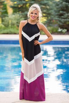 A Little Ritzy Maxi Dress - Black