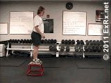 Step off box landing on both feet under vertical jump flag. Jump off the ground as fast as possible. Reach up with one or both hands and hit the highest flag possible. Vertical Jump Workout, Vertical Jump Training, Basketball Drills, Proper Running Technique, Nate Robinson, Running Techniques, Box Jumps, Plyometrics