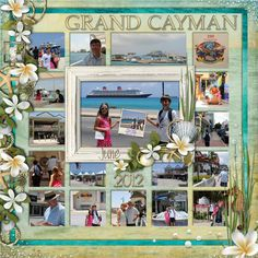 Disney Cruise Scrapbook Layout - Grand Cayman