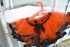 Child's orange and black tutu fits 1224 month by ShuhpuppyAndDeppy, $30.00