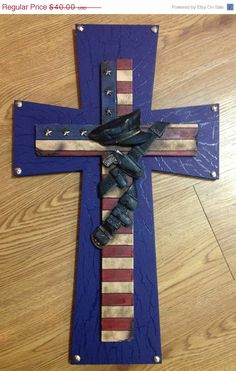 30offSpringSale Police Themed Cross by TheCrossedCupcake on Etsy, $28.00
