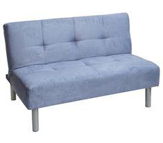 College Mini-Futon - Moonlight Blue Dorm Essentials Dorm Furniture