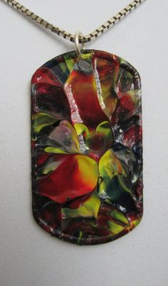 Necklace Art pendant Beautiful Colors of Nature Dog by rostudios, $15.00