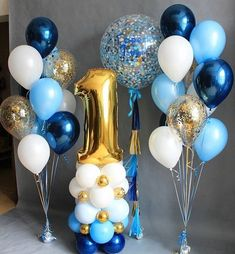 Club Balloons - new site 1st Birthday Party Decorations, 1st Birthday Parties, Baby Shower Decorations, First Birthday Balloons, Birthday Gifts, Prince Birthday, Baby Boy 1st Birthday, Festa Mickey Baby, Baby Shower Balloons
