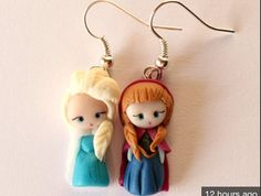 Anna and Elsa made of clay!