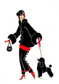 Art Deco Lady - Mitzi by Di Kaye