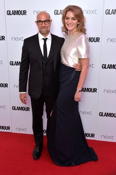 Pin for Later: Hollywood Royalty Mixed With the Brit It Crowd at the Glamour Women of the Year Awards Stanley Tucci and Felicity Blunt