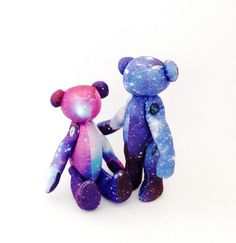 Couples Gift Galaxy Teddy Bear Pair of Galaxy by moonroomkids, $70.00