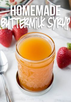 Buttermilk Syrup, Homemade Buttermilk, Greek Yogurt Pancakes, Breakfast Pancakes, Breakfast Club, Homemade Syrup, Ice Cream Desserts, Snacks, Simple Syrup