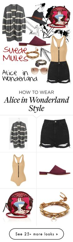 """Alice in Wonderland"" by paolacaligirl on Polyvore featuring Mansur Gavriel, Lisa Marie Fernandez, Topshop, John Atencio, Madewell, Chan Luu, Olympia Le-Tan, Tom Ford, Janessa Leone and women's clothing"