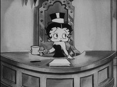 Betty Boop--tending the desk Animated Cartoon Characters, Cartoon Posters, Cartoon Art, Imagenes Betty Boop, Betty Boop Cartoon, Gifs, Betty Boop Pictures, 90s Cartoons, A Level Art