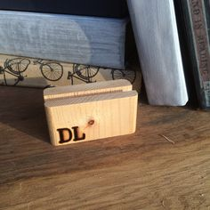 card holder salvaged wood 5th anniversary gift business