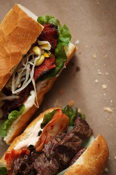 Korean twist on the Banh mi viet sandwiches. omg. . . it looks even better! [No Recipe]