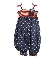 2013 Preorder Girls 4th of July Romper Newborn to 4T - Children's Fourth of July Clothing - Cassie's Closet @erindesotel