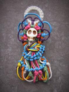 POTIONSMITH: Skull Hemp Jewelry Series: Round 3 - La Calavera Catrina Pendant