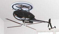 This is a ceiling fan as an upside down helicopter.