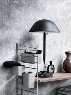 String shelf styling from Lotta Agaton