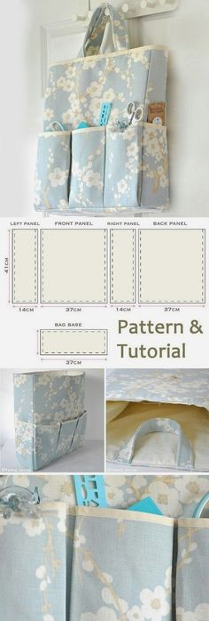 How-to step by step www.free-tutorial The post Organizer Bag Sewing Tutorial 2019 appeared first on Bag Diy. Sewing Hacks, Sewing Tutorials, Sewing Crafts, Sewing Projects, Sewing Ideas, Easy Sewing Patterns, Fabric Bags, Quilted Bag, Bag Organization