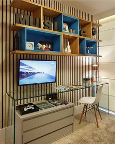 Home office do rapaz por  Izabela Lessa