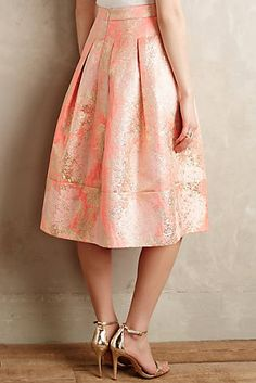 Blushing Blooms Midi Skirt