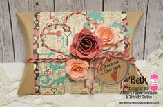 Trendy Twine ~ Love Kraft Pillow Box