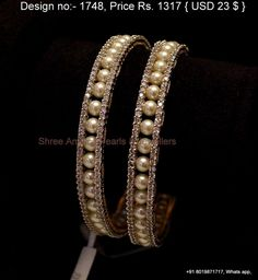 Cz and pearls bangles