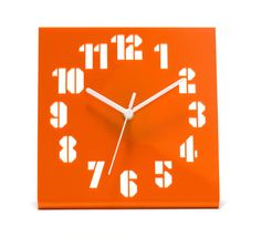 """""""Time Is Up"""" Clock Anthony Burrill"""