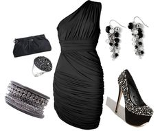 Classic Black with a little sparkle, created by sonia-robertson on Polyvore my-style-fashion