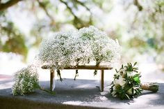 Very natural bouquets | #Baby's Breath | See the wedding on SMP - http://www.StyleMePretty.com/2014/01/08/rustic-chic-calabasas-wedding-at-tapia-park/ Nancy Neil Photography