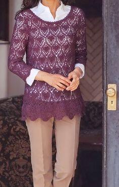 Crochet Sweater: Crochet Tunic Pattern - Sophisticated