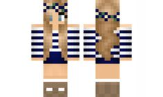 minecraft skin Flower-Girl-Blue Find it with our new Android Minecraft Skins App: https://play.google.com/store/apps/details?id=the.gecko.girlskins