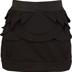 Black mini structured skirt - www.wearelse.com - #fashion #style