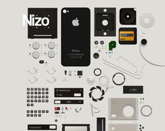 Things dissected is always satisfying, and the type is clean. But you won't appreciate this until you go to the live site and experience the elements in motion. http://nizoapp.com/