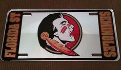 Florida State Seminoles University Football Vinyl Mirror Car License Plate NCAA #DiamondDecalz