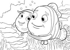 finding nemo coloring pages peach
