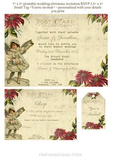 Printable christmas wedding invitation by OurFriendsEclectic