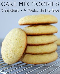 3-Ingredient Cake Mix Cookies