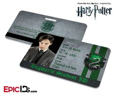 Harry Potter Inspired Hogwarts Student ID (Slytherin) - Tom Riddle