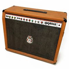Orange's answer to the Fender Twin Reverb, it features identical controls, but with a British Guitar Amp, Cool Guitar, Orange Amplifiers, Orange Amps, British Invasion, Vintage Guitars, Marshall Speaker, Twins, Vacuum Tube