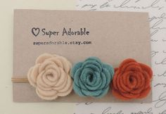 Felt Flower Headband  in Colorful Colors - Felt Baby Headband, Felt Headband,  Girls Headband #collectible #gifts $6.99