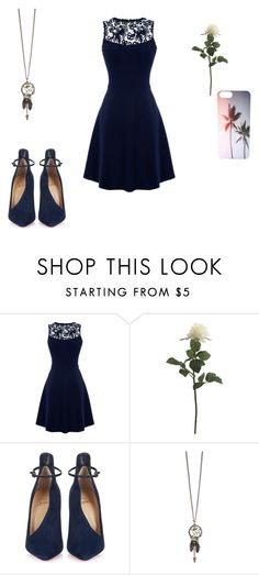 """Untitled #658"" by crystalrose-014 ❤ liked on Polyvore featuring Warehouse and Christian Louboutin"