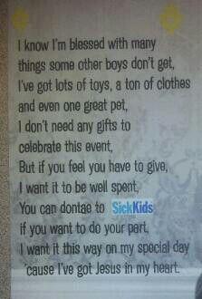 Poem For Birthday Invitation To Help Raise College Fund